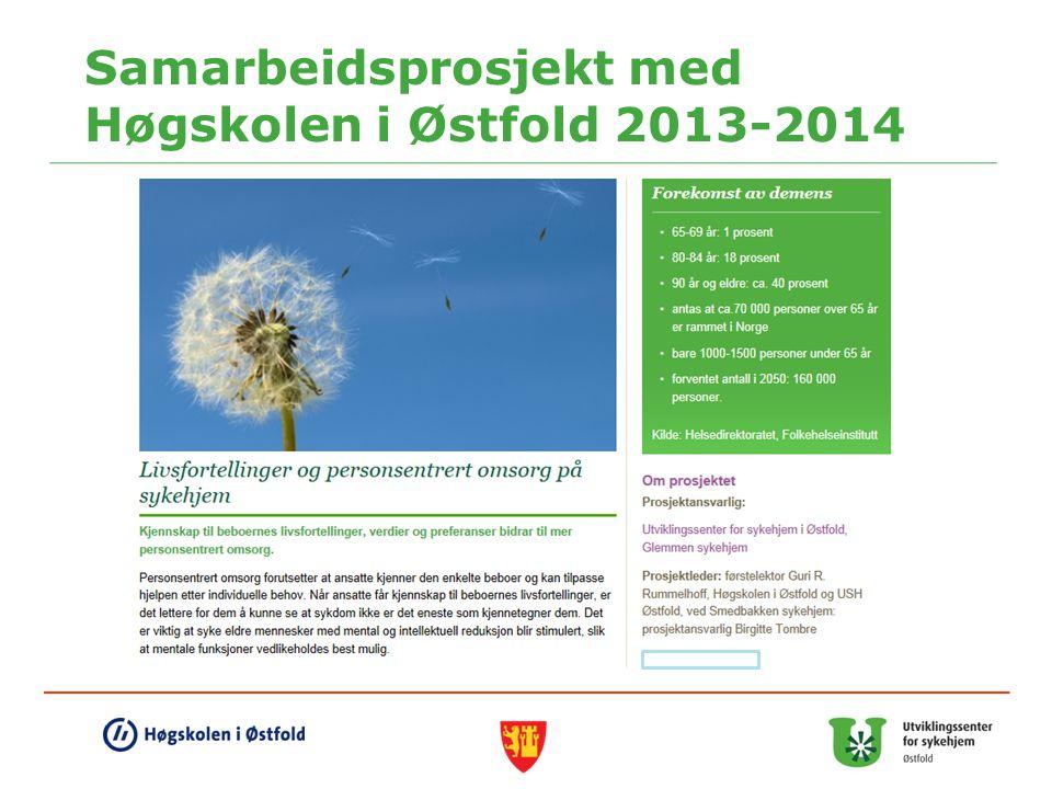 Samarbeidsprosjekt med Høgskolen i Østfold 2013-2014