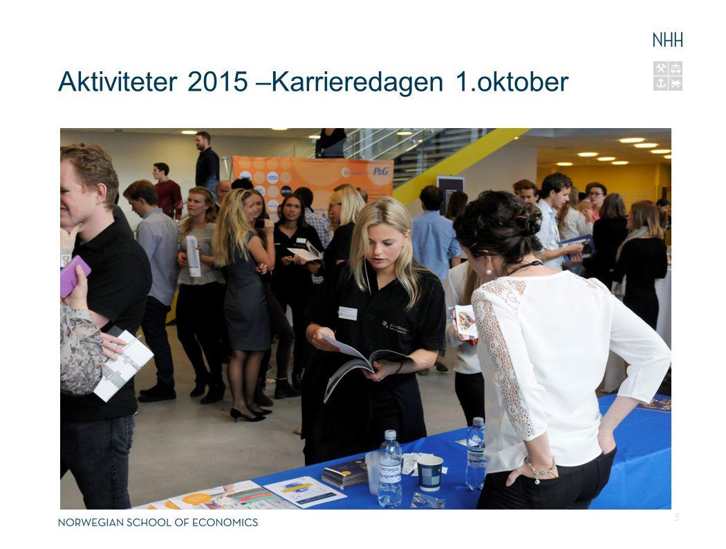 Aktiviteter 2015 –Karrieredagen 1.oktober 5