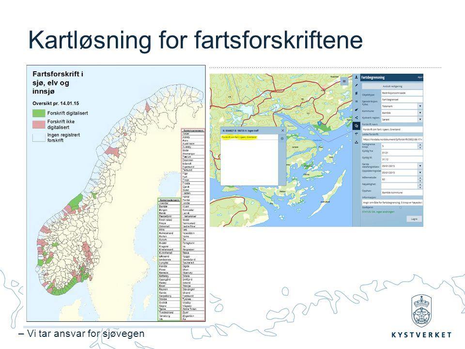 – Vi tar ansvar for sjøvegen Kartløsning for fartsforskriftene