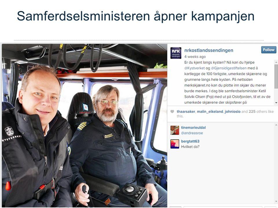 – Vi tar ansvar for sjøvegen Samferdselsministeren åpner kampanjen