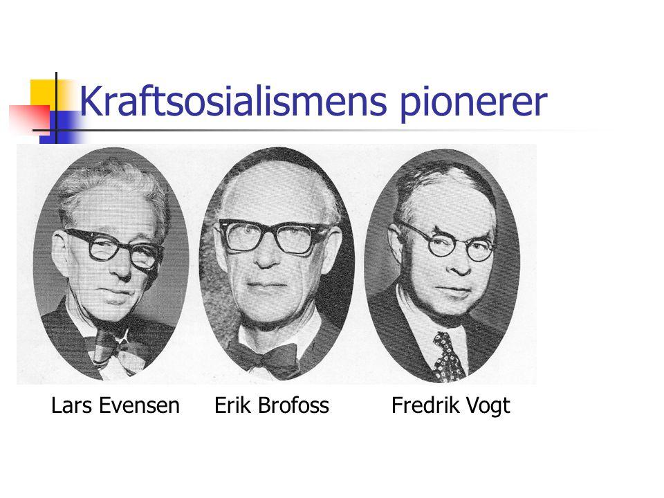 Kraftsosialismens pionerer Lars Evensen Erik Brofoss Fredrik Vogt
