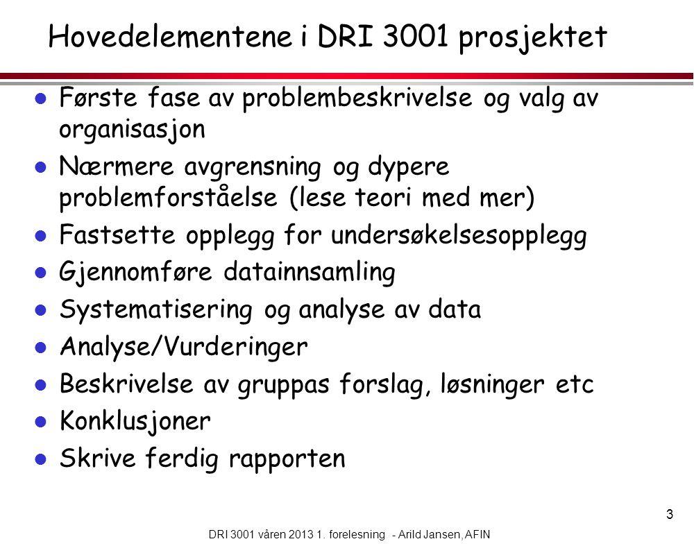 14 DRI 3001 våren 2013 1.