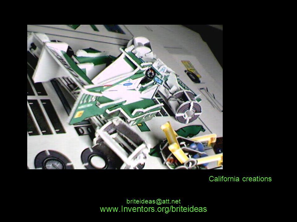 www.Inventors.org/briteideas briteideas@att.net California creations