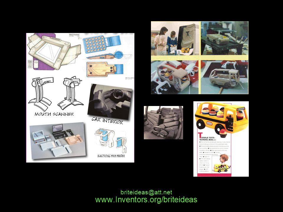 www.Inventors.org/briteideas briteideas@att.net Sold and Produced inventions