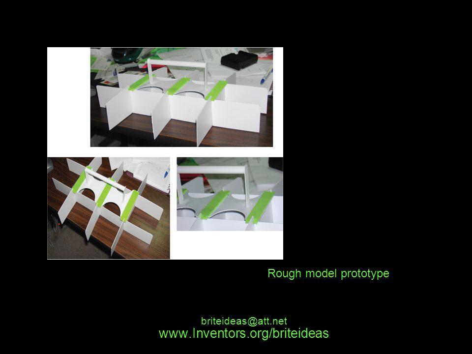 www.Inventors.org/briteideas briteideas@att.net Rough model prototype
