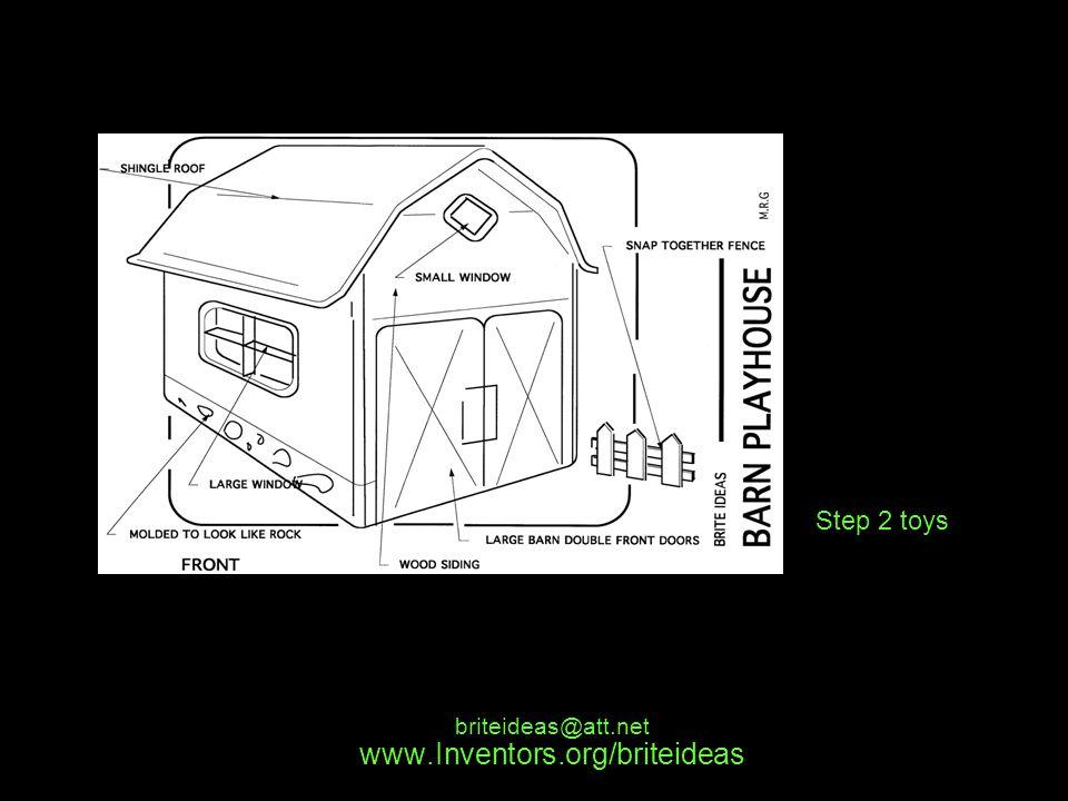 www.Inventors.org/briteideas briteideas@att.net Step 2 toys