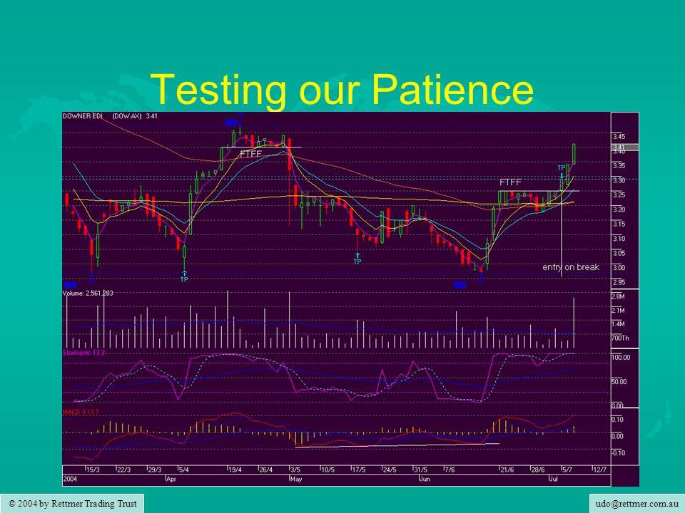 udo@rettmer.com.au © 2004 by Rettmer Trading Trust Testing our Patience
