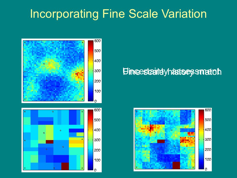 Incorporating Fine Scale Variation Uncertainty assessment Fine scale history match