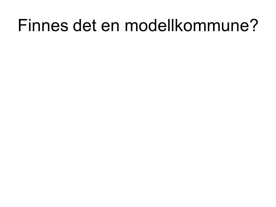 Finnes det en modellkommune?
