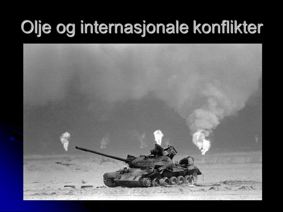 Olje og internasjonale konflikter