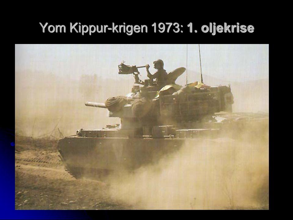 Yom Kippur-krigen 1973: 1. oljekrise