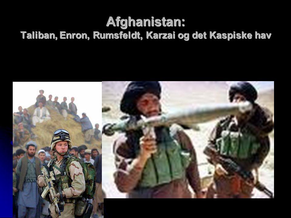 Afghanistan: Taliban, Enron, Rumsfeldt, Karzai og det Kaspiske hav