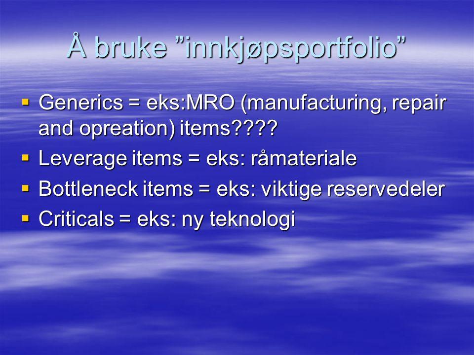  Generics = eks:MRO (manufacturing, repair and opreation) items???.