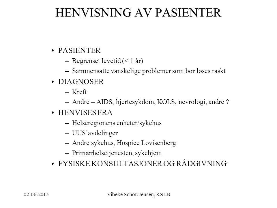 02.06.2015Vibeke Schou Jensen, KSLB STØRSTE PLAGE Frykten for tap av verdighet