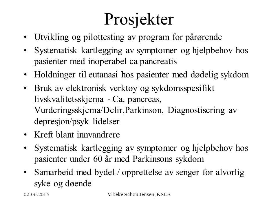 02.06.2015Vibeke Schou Jensen, KSLB SMERTE - SYMPTOMLINDRING EN SAMMENSATT UTFORDRING .