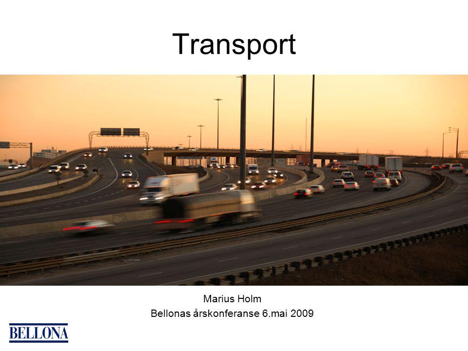 Transport Marius Holm Bellonas årskonferanse 6.mai 2009