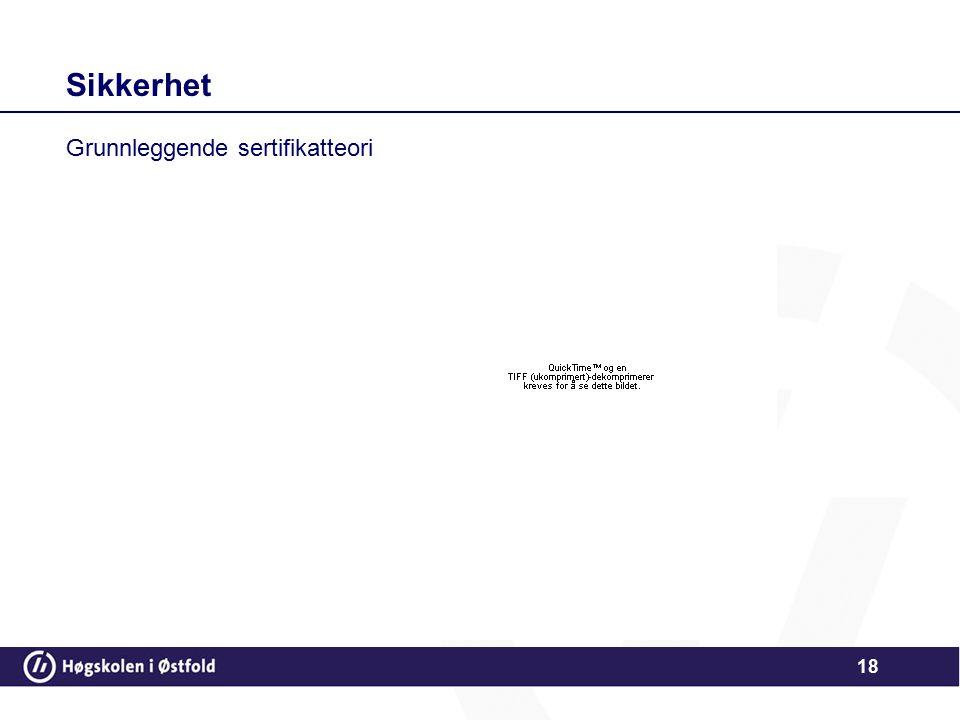 18 Sikkerhet Grunnleggende sertifikatteori