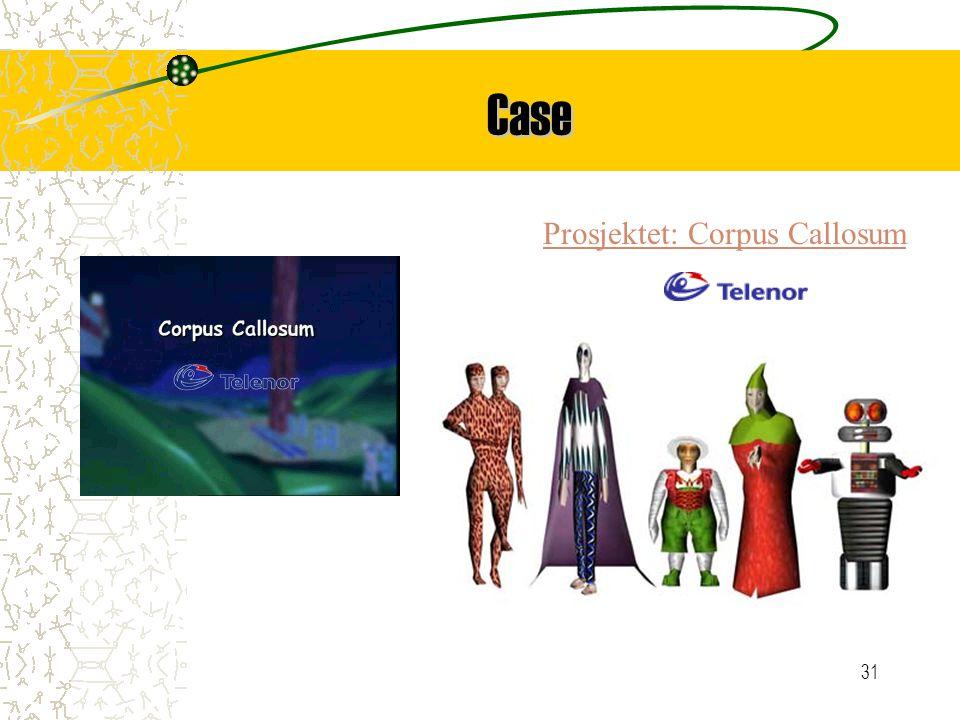 31 Case Prosjektet: Corpus Callosum