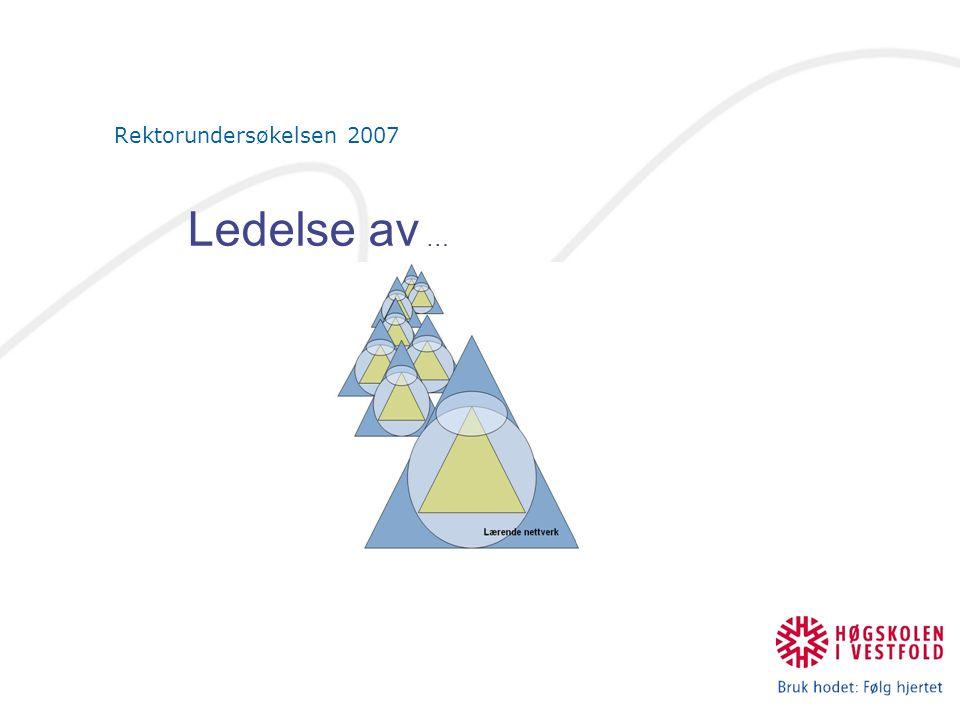 Rektorundersøkelsen 2007 Ledelse av …