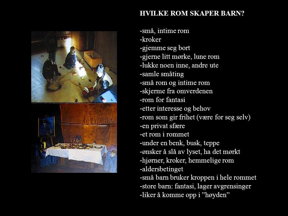HVILKE ROM SKAPER BARN.