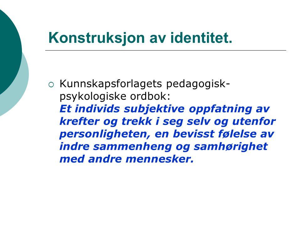 Konstruksjon av identitet.