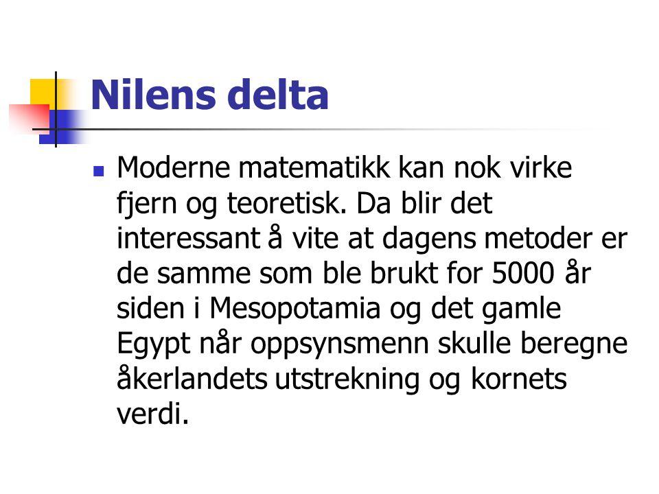 Nilens delta Moderne matematikk kan nok virke fjern og teoretisk.
