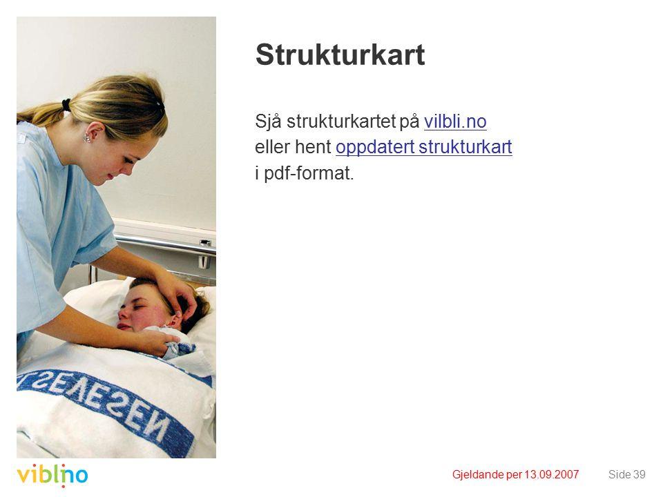 Gjeldande per 13.09.2007Side 39 Strukturkart Sjå strukturkartet på vilbli.novilbli.no eller hent oppdatert strukturkartoppdatert strukturkart i pdf-format.