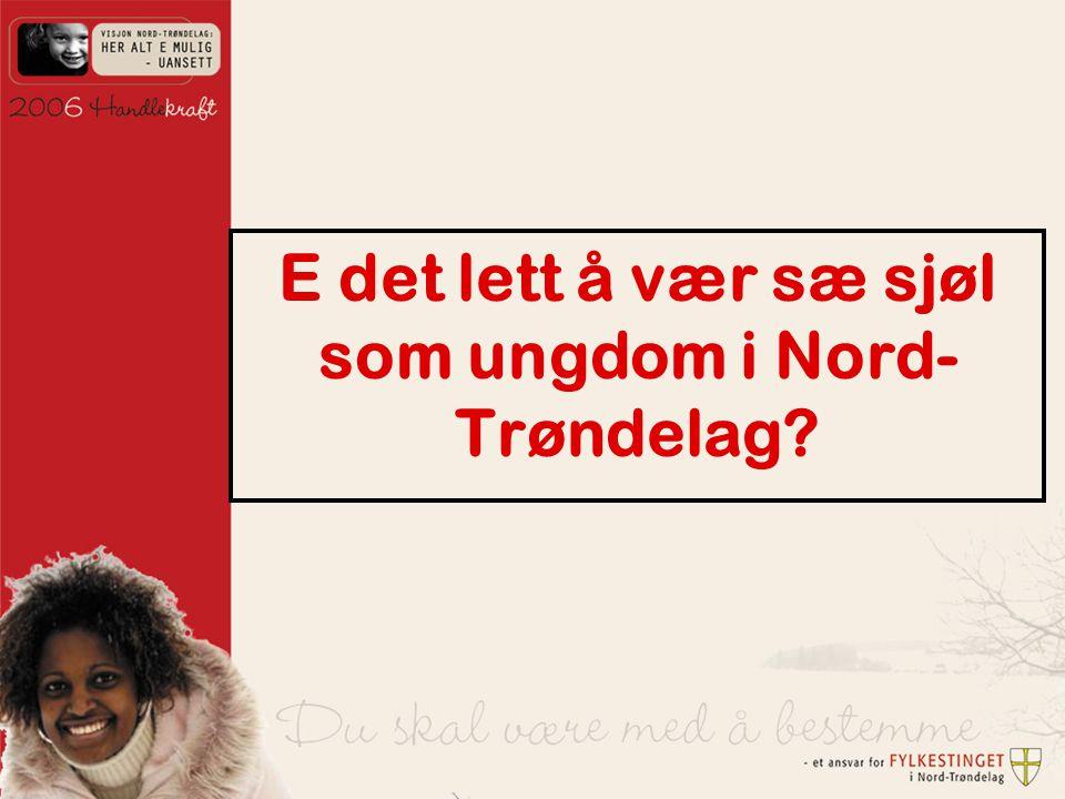 E det lett å vær sæ sjøl som ungdom i Nord- Trøndelag?