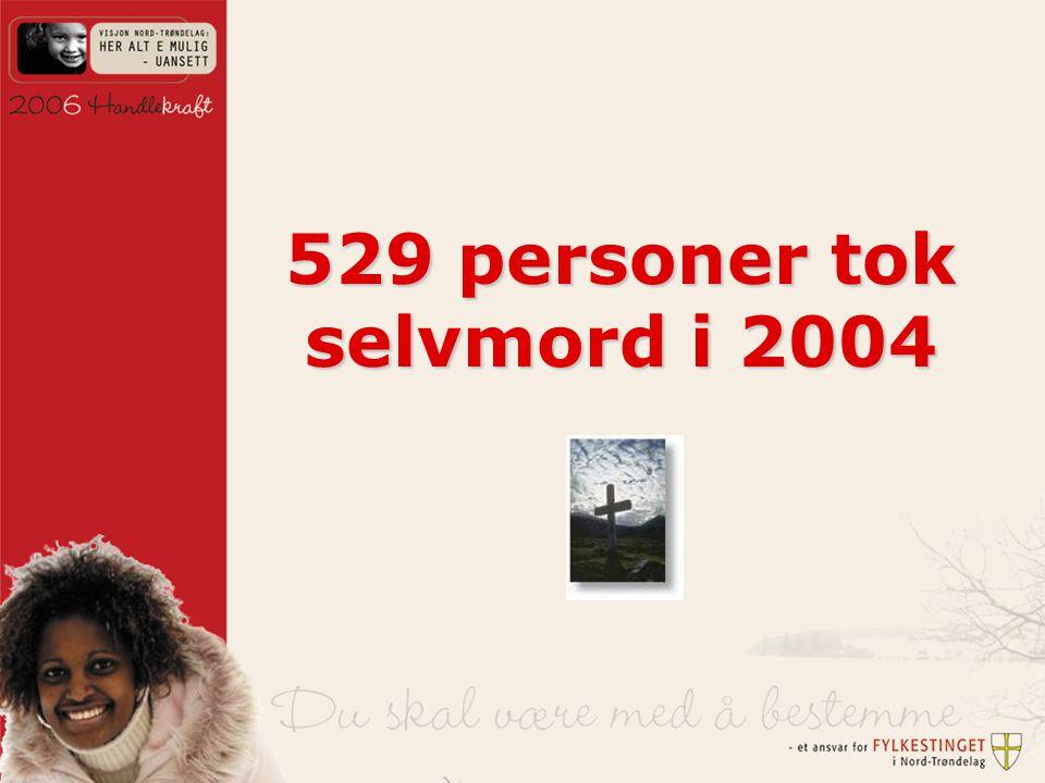 529 personer tok selvmord i 2004
