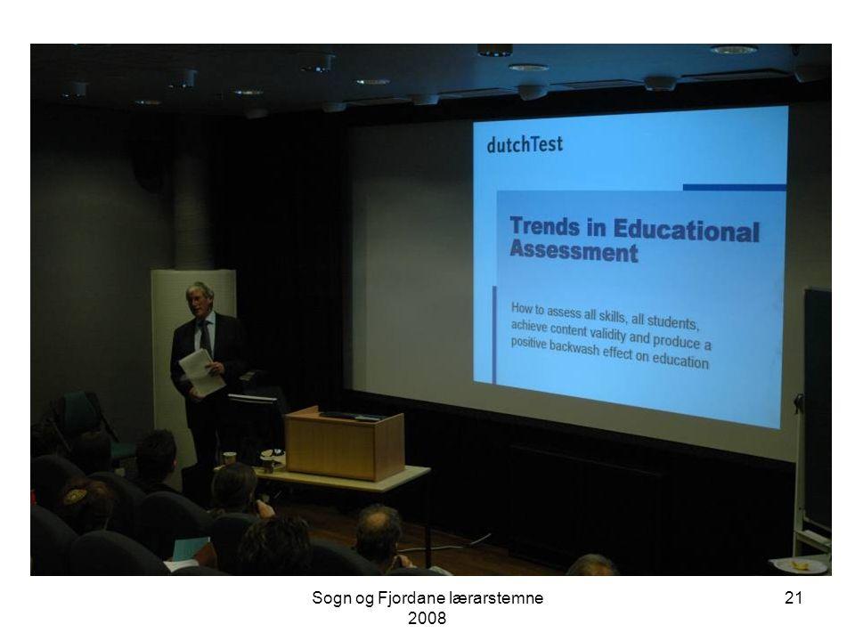 """Sogn og Fjordane lærarstemne 2008 20 Steven Bakker """"European trends in assessment"""""""