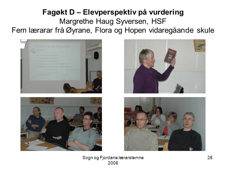 Sogn og Fjordane lærarstemne 2008 27 Fagøkt C Ka ti får eg fagsamtala mi Petter Erik Leirhaug, Øyrane vidaregåande skule