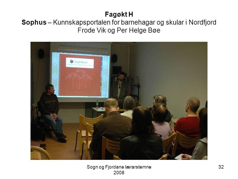 Sogn og Fjordane lærarstemne 2008 31 Fagøkt G – Frå vurdering av læring til vurdering for læring Kjersti Søvik og Kristen Holt Hyllestad kommune