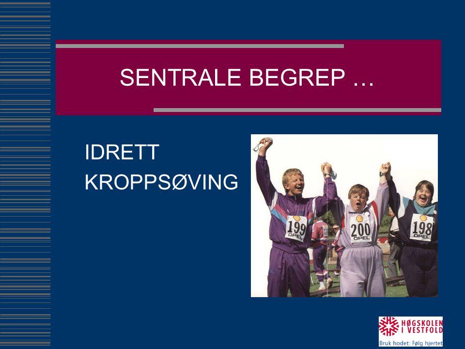 SENTRALE BEGREP … IDRETT KROPPSØVING