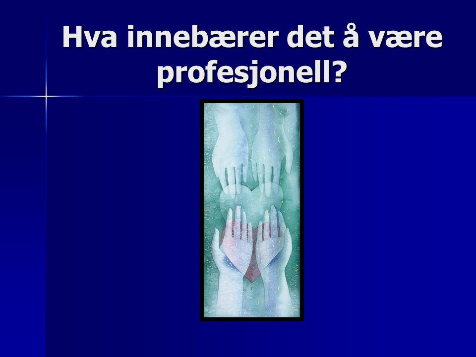 Hva innebærer det å være profesjonell?