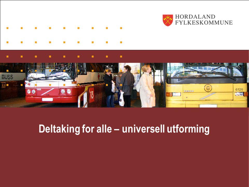 Deltaking for alle – universell utforming