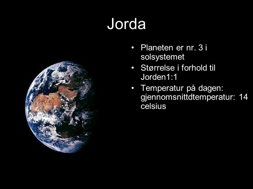 Jorda Planeten er nr.