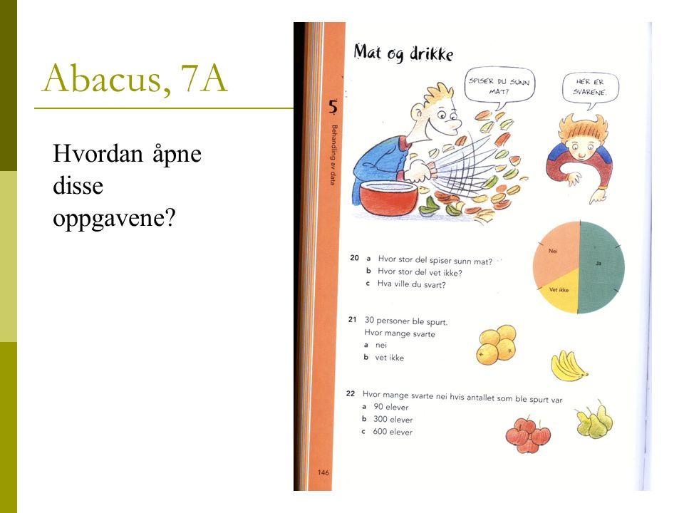 24 Abacus, 7A Hvordan åpne disse oppgavene?