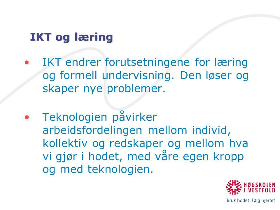 IKT endrer forutsetningene for læring og formell undervisning.