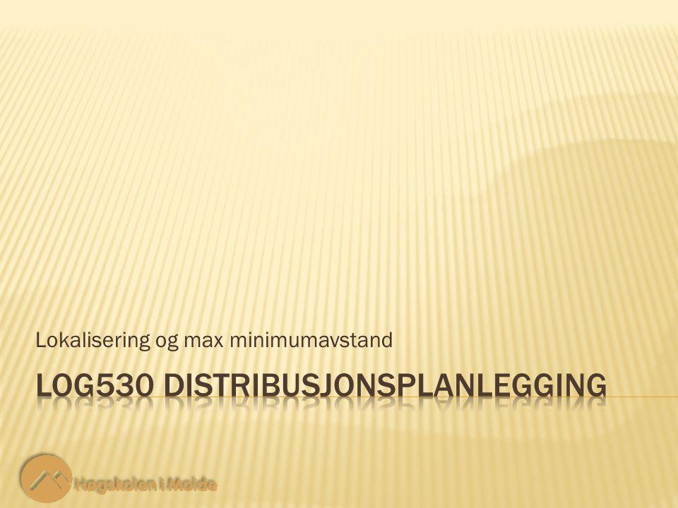 Lokalisering og max minimumavstand