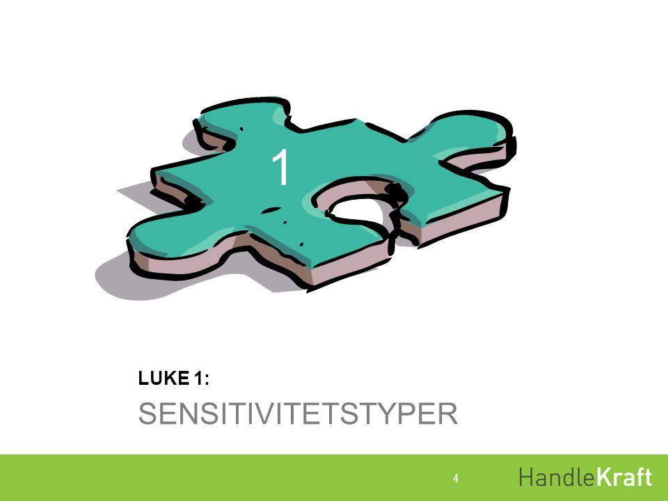 Luke 1:Sensitivitetstyper Denne luken handler om: At voksne ikke alltid er så konstruktive sammen med barn og unge som vi og barna ønsker.