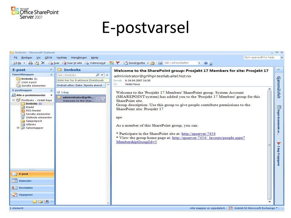 E-postvarsel