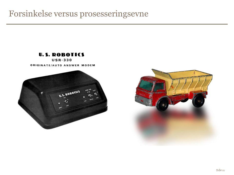 Forsinkelse versus prosesseringsevne Side 11