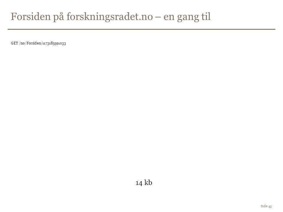 Forsiden på forskningsradet.no – en gang til Side 45 GET /no/Forsiden/1173185591033 14 kb