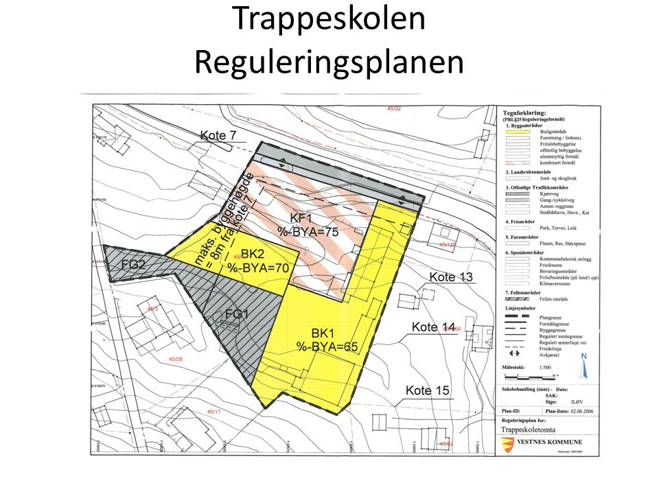 Trappeskolen Reguleringsplanen