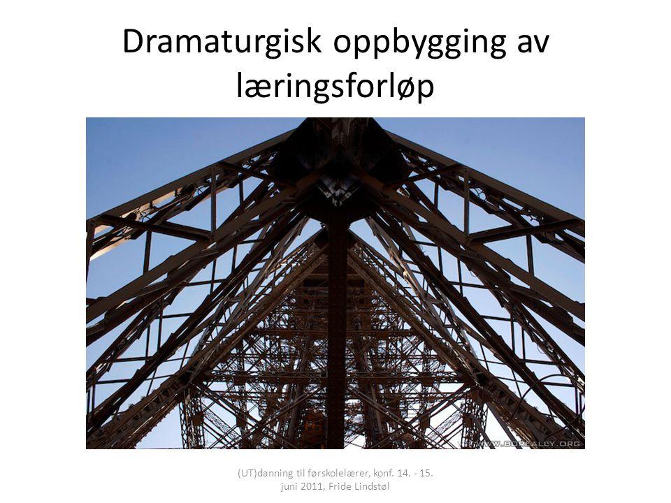 Dramaturgisk oppbygging av læringsforløp (UT)danning til førskolelærer, konf. 14. - 15. juni 2011, Fride Lindstøl