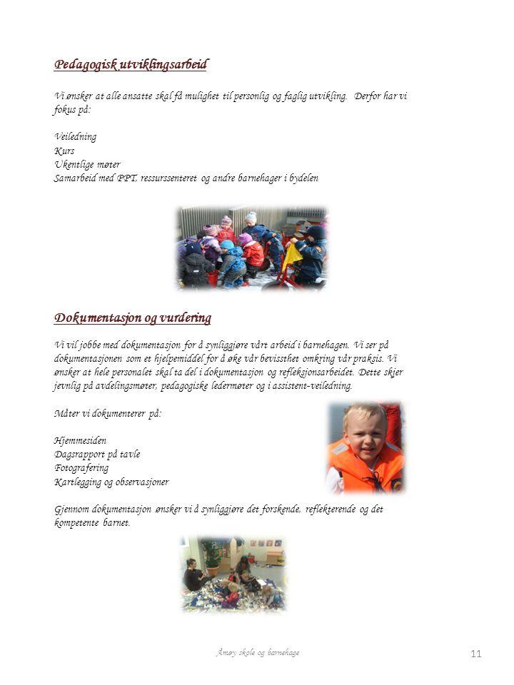 Pedagogisk utviklingsarbeid Vi ønsker at alle ansatte skal få mulighet til personlig og faglig utvikling.