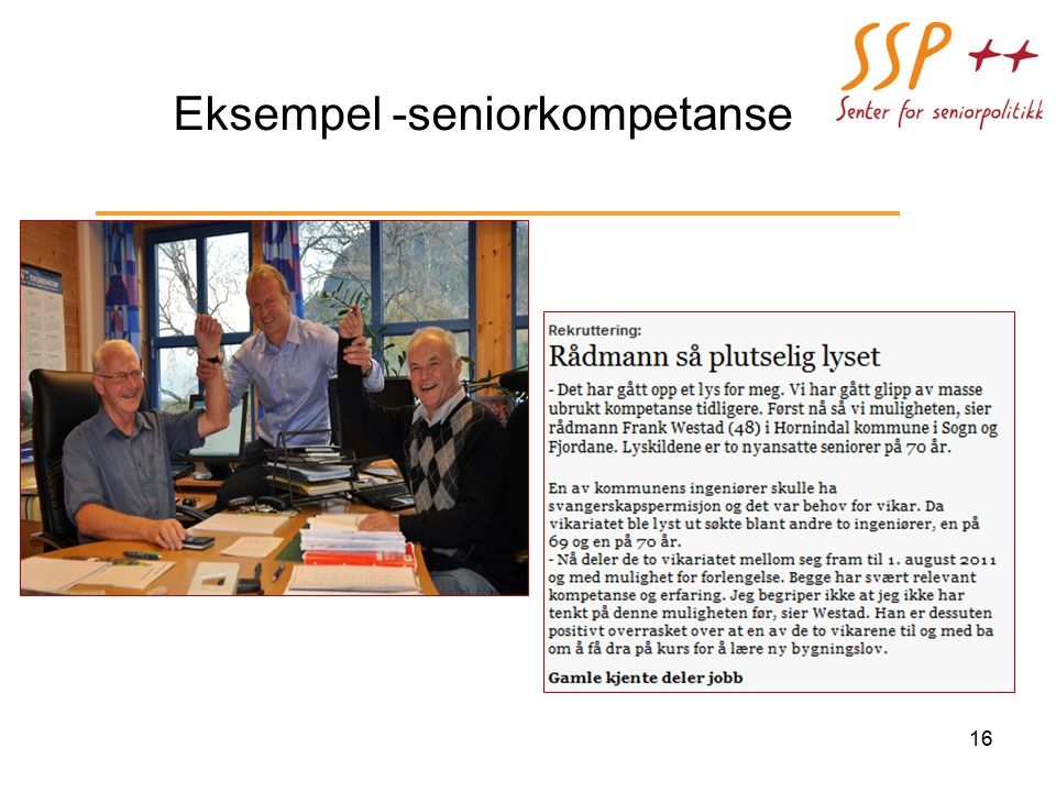 Eksempel -seniorkompetanse 16