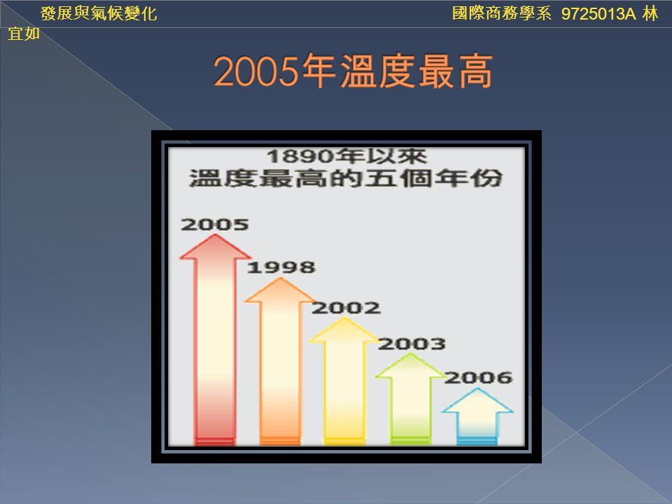 發展與氣候變化 國際商務學系 9725013A 林 宜如