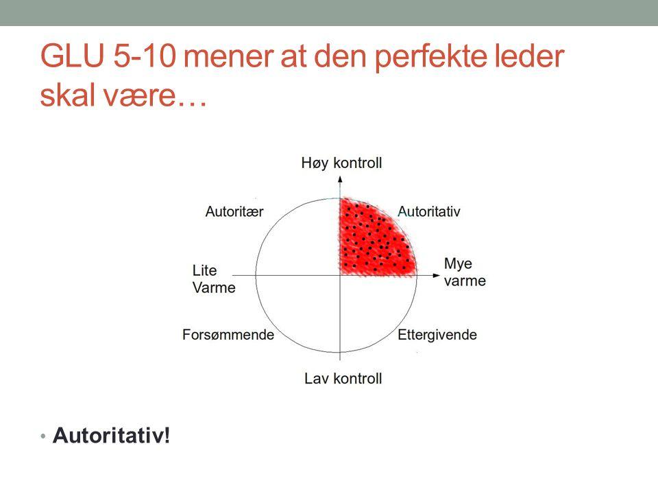 GLU 5-10 mener at den perfekte leder skal være… Autoritativ!