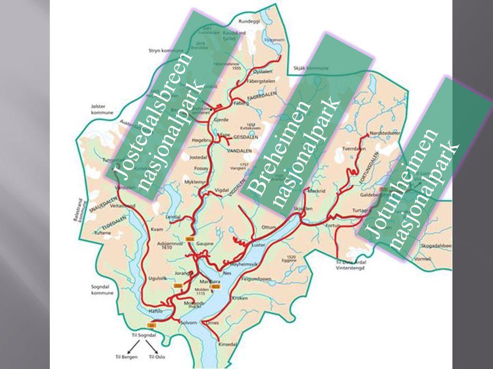 Jostedalsbreen nasjonalpark Breheimen nasjonalpark Jotunheimen nasjonalpark
